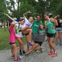 Picture of kids at Cross Country Camp.