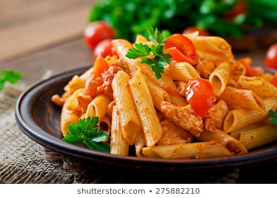 penne-pasta-tomato-sauce-chicken-260nw-275882210